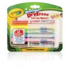 12-Count Crayola Dry Erase Fineline Marker