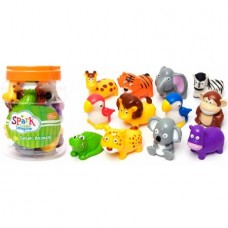 12-Piece Bucket of Zoo Animals