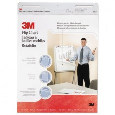"3M Professional Flip Chart Pad, Unruled, 25"" x 30"", White, 40 Sheets/Pad, 2-Count"