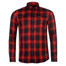 883 Police Leopard Check Shirt Mens