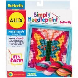 ALEX Toys - Simply Needlepoint Kit, Butterfly