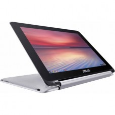 """ASUS Silver 10.1"""" Flip Chromebook PC with Rockchip 3288-C Quad-Core Processor, 4GB Memory, touch screen, 16GB SSD and Chrome OS"""