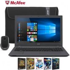"Acer Aspire E15 E5-522-89W6 15.6"" Laptop Bundle, Windows 10 Home, AMD A8-7410 Processor, 4GB RAM, 500GB Hard Drive"