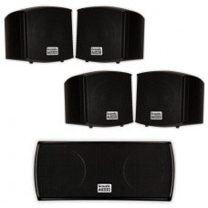 Acoustic Audio AA321B and AA32CB Mountable Indoor Speakers Home Theater 5 Speaker Set