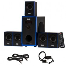 Acoustic Audio AA5102 Home Theater 5.1 Speaker System with Optical Input and 2 Extension Cables