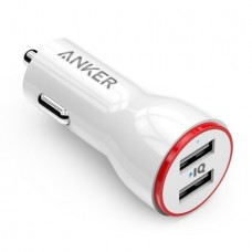 Anker 24W 4.8A Dual USB Car Charger PowerDrive 2 for iPhone 6/6s/6 Plus, Note 5, iPad Air 2, Galaxy S7/S6/S6 Edge/Edge+, Note 5 and More