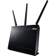Asus RT-AC68U IEEE 802.11ac Ethernet Wireless Router - 2.40 GHz ISM Band - 5 GHz UNII Band - 1900 Mbit/s Wireless Speed - 4 x Network Port - 1 x Broadband Port - USB - Gigabit Ethernet - VPN Supported