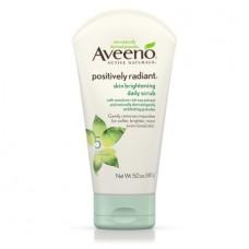 Aveeno Positively Radiant Skin Brightening Exfoliating Daily Scrub 5Oz