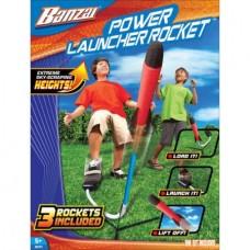 Banzai Power Launcher Rocket (Backyard Fun Stomp Launch Shuttle 20 Feet Includes 3 Rockets)