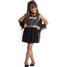 Batgirl Black and Gold Girls Toddler Halloween Costume