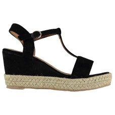 Beppi T Bar Ladies Wedge Sandals