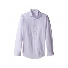 Calvin Klein Kids Honeycomb Solid Texture Long Sleeve Shirt (Big Kids)
