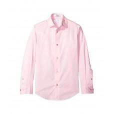 Calvin Klein Kids Long Sleeve Solid Stretch Poplin Shirt (Big Kids)