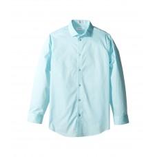 Calvin Klein Kids Long Sleeve Solid Stretch Poplin Shirt (Little Kids)