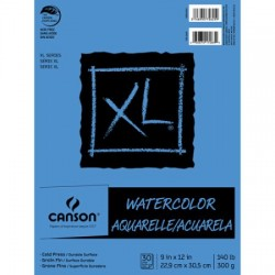 "Canson XL Watercolor 9"" x 12"" 30-Sheet Paper Pad"