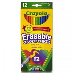 Crayola 12 Count Erasable Colored Pencils