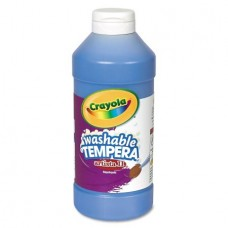 Crayola Artista II Washable Tempera Paint, Blue, 16 oz