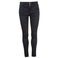 Full Circle 3 Button High Waisted Jeans Ladies