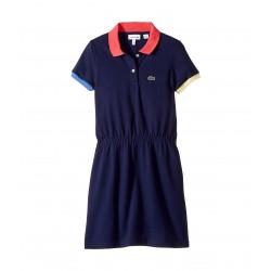 Lacoste Kids Pique Color Block Rib Dress (Toddler/Little Kids/Big Kids)