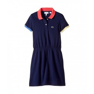 Lacoste Kids Pique Color Block Rib Dress (Toddler/Little Kids/Big Kids)