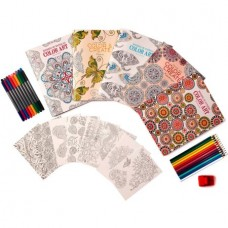 Leisure Arts Wonders of Color Art for Everyone Coloring Book Kit $31 Value!