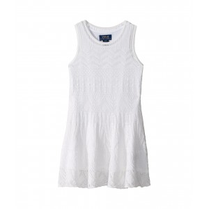 Polo Ralph Lauren Kids Combed Cotton Pointelle Sweater Dress (Toddler)