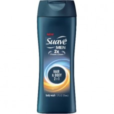 Suave Men Body Wash Hair + Body Wash 12 oz (Pack of 6)