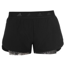 adidas 2 in 1 AOP Shorts Ladies
