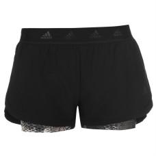 adidas 2 in 1 AOP Shorts Ladies