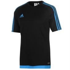 adidas 3 Stripe Estro T Shirt Mens