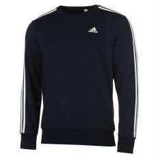 adidas Essentials 3 Stripe Crew Sweater