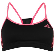 adidas Three Stripe Strappy Bra Womens
